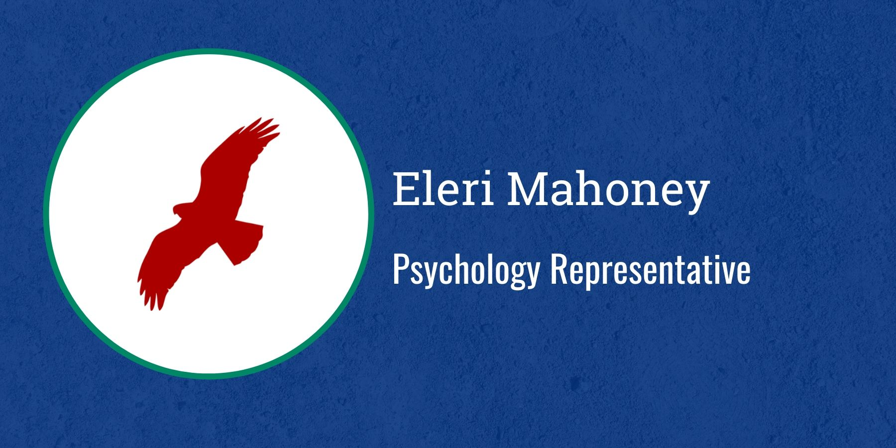 Image of Redhawk and text Psychology Representative