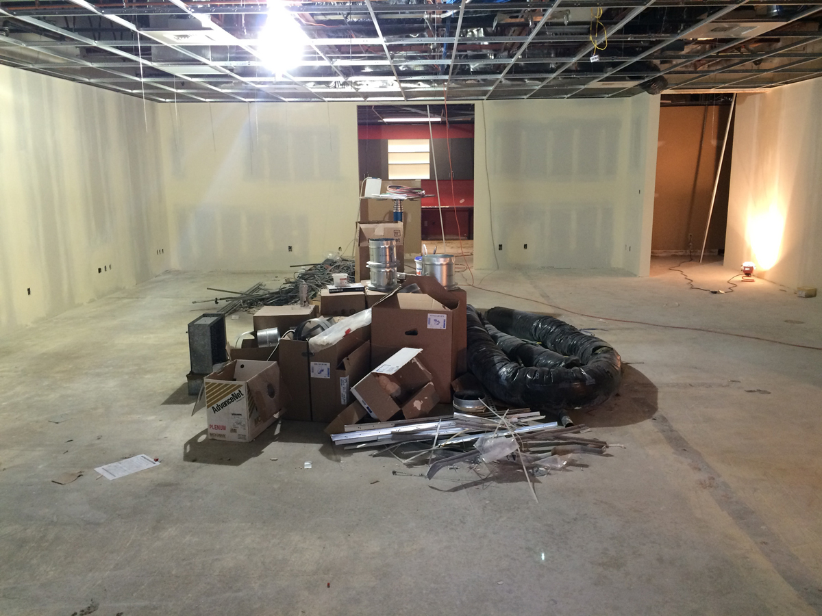 Future classroom at the new Eastside campus