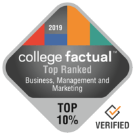 College Factual 2019 rankings badge