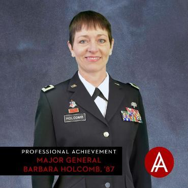 Professional Achievement Award: Major General Barbara Holcomb, '87