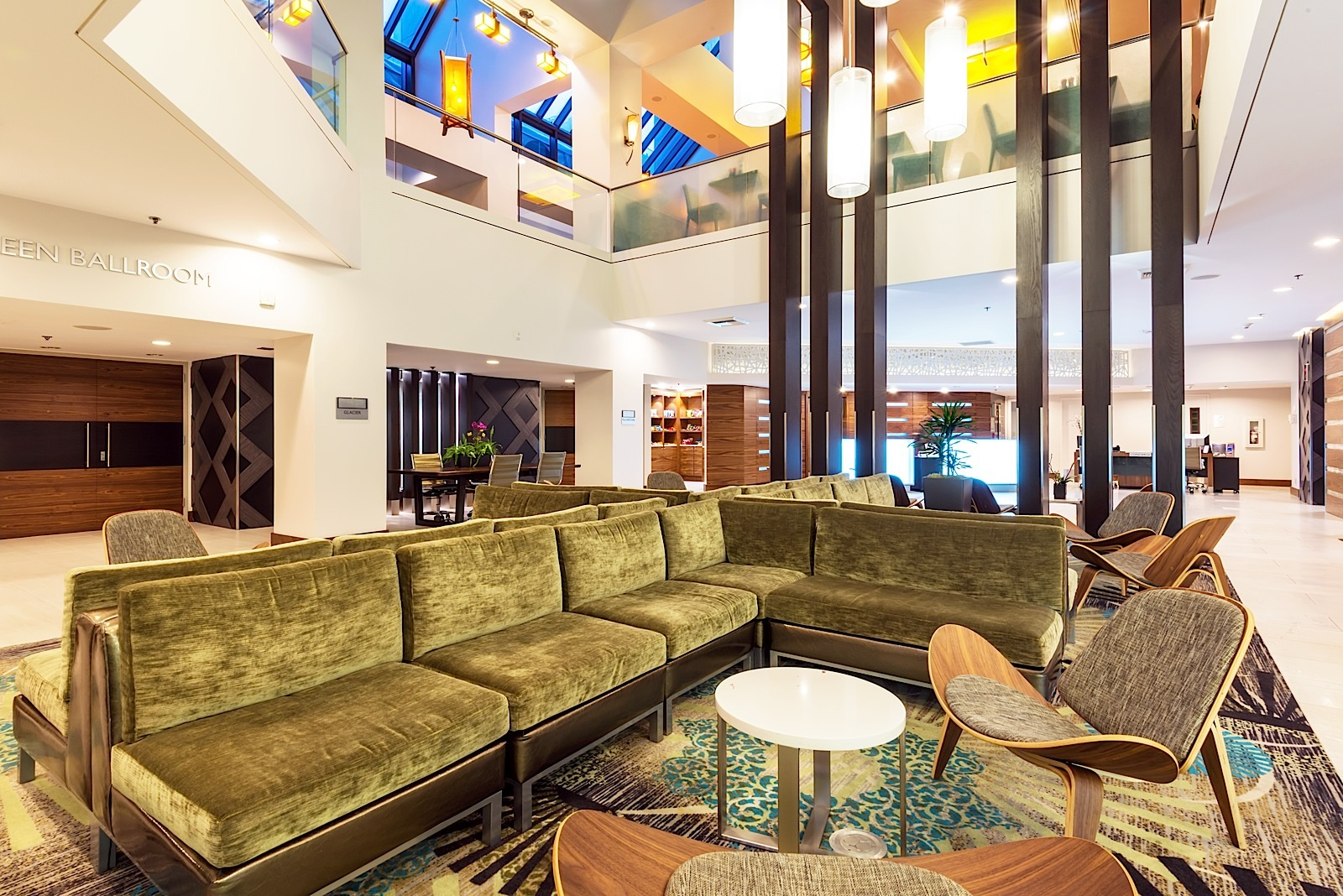 Lobby of the Crowne Plaza Hotel in Seattle