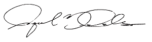 Signature of Raquel Davalos