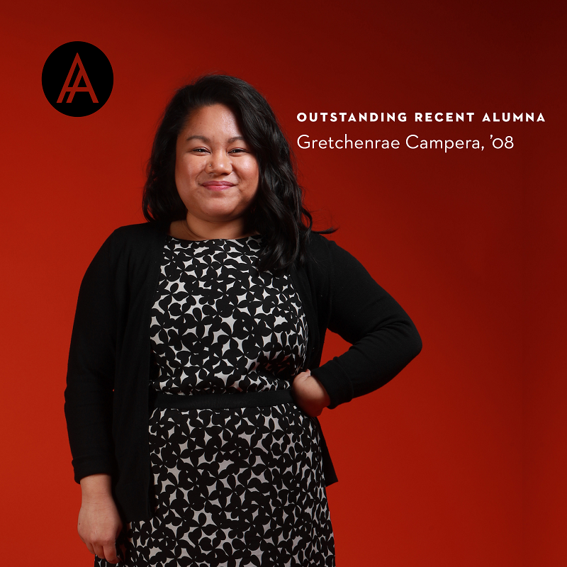 Profile image of Gretchenrae Campera, '08, Outstanding Recent Alumna