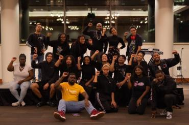 A group photo of the Black Student Union