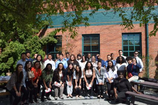 a group photo of students involved in the SU summer scholar institute