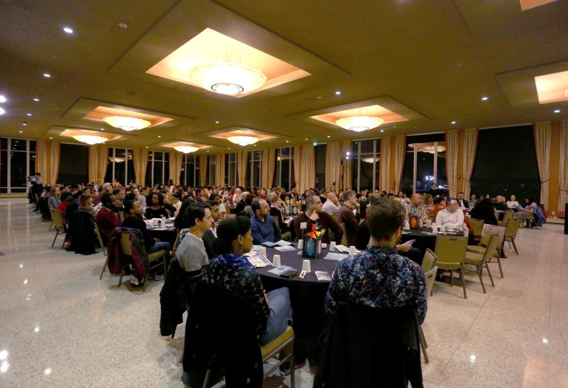 Diners at International Dinner in Campion Ballroom
