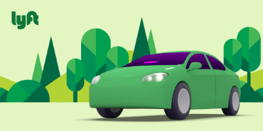 image of lyft logo for earth month