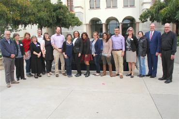 group photo of PBJN leaders  gathering at University of San Diego, December 2016