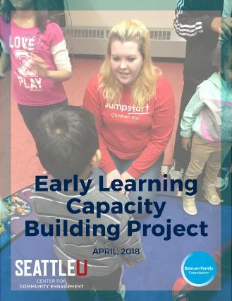 Early Learning Capacity Building Project Cover