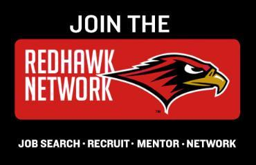 an illustration of a redhawk and text for the Redhawk Network