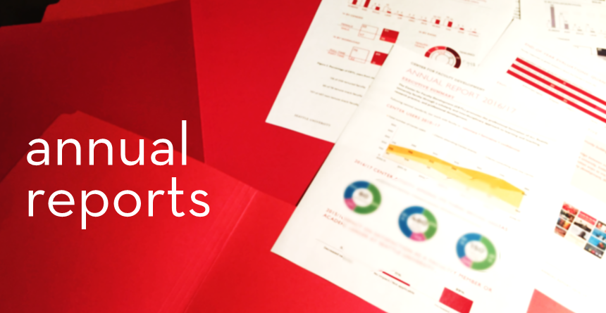 Image of infographics from our annual reports