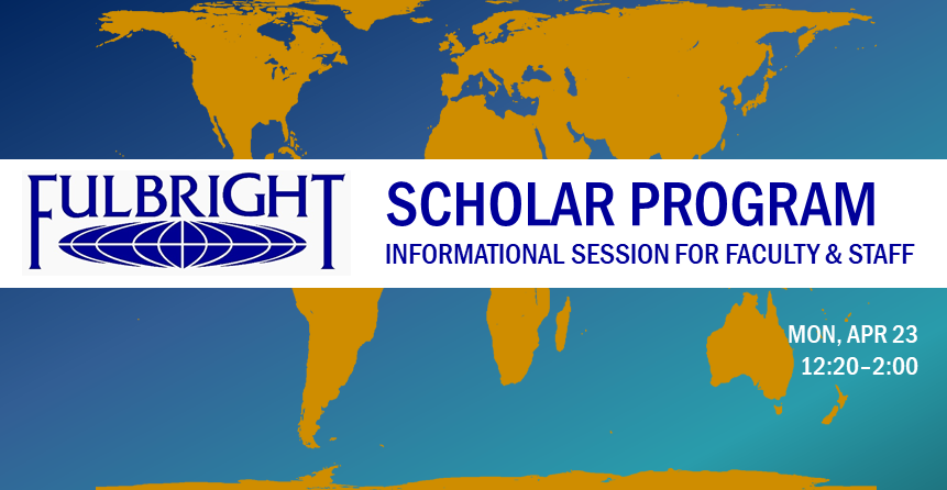 Fulbright logo with world map