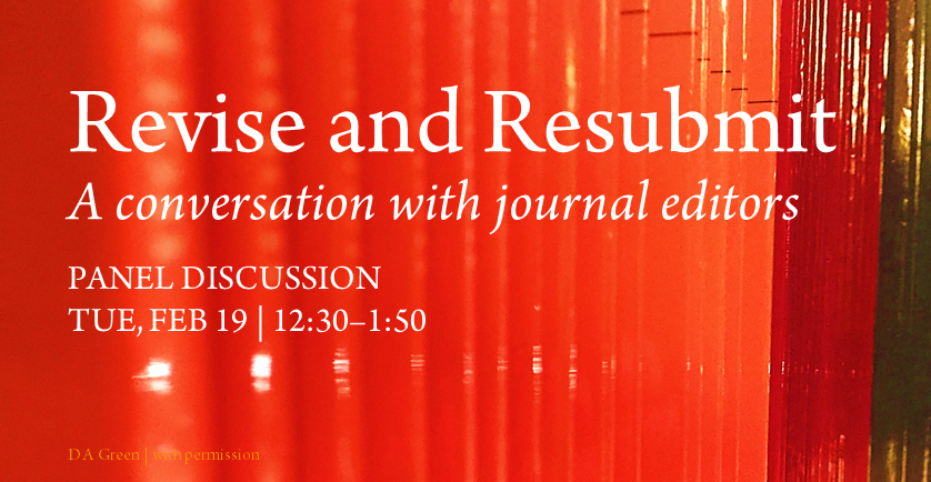 19WQ Revise and Resubmit - a conversation with journal editors