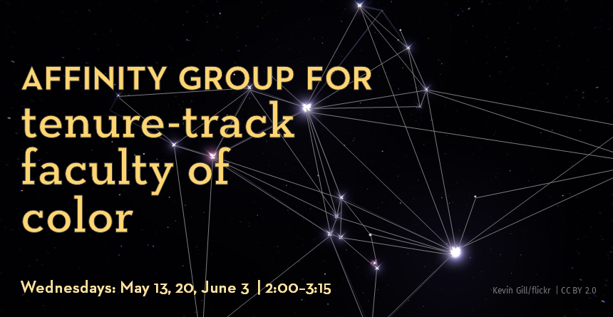 20SQ Affinity group for tenure-track faculty - image of constellation