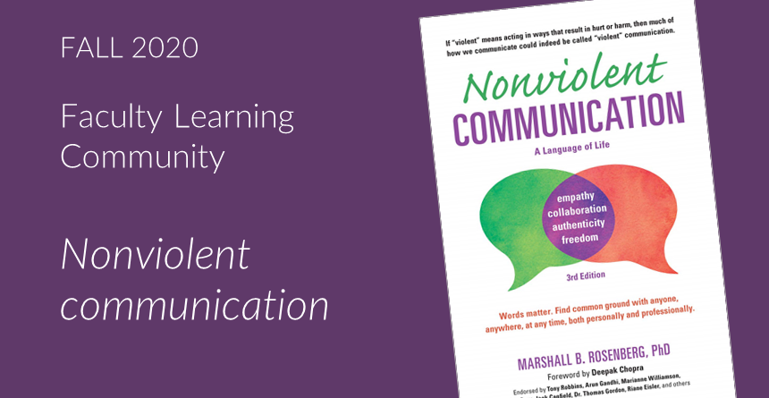 Image of book jacket for Nonviolent communication, on a purple background