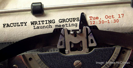 Fall 2017 Faculty Writing Groups launch - image of typewriter
