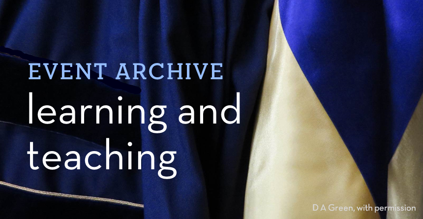 Learning and teaching archive