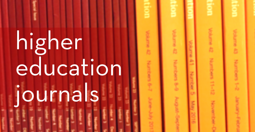 Higher education journals