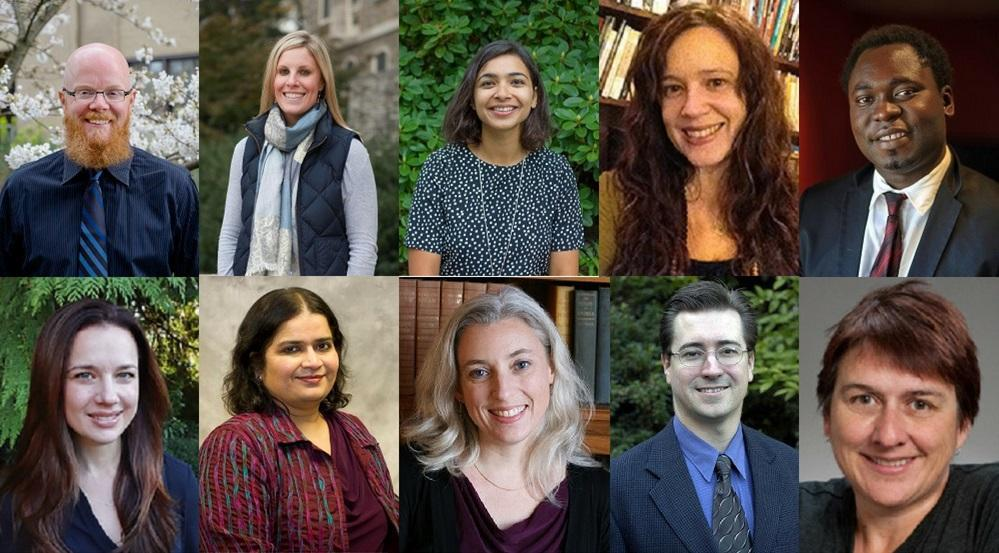 Ten faculty members who were awarded 2018 Summer Fellowships