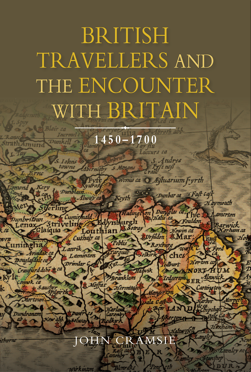Poster for a lecture with a graphic of a historical map of England