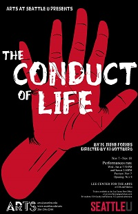 The poster image for the play, The Conduct of Life