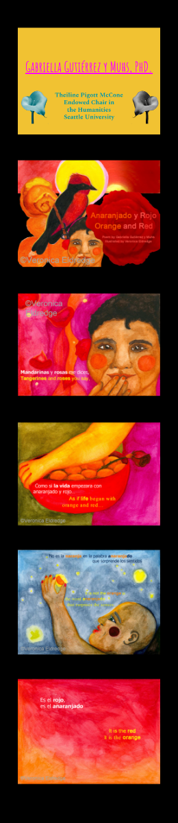 Slides with excerpts of Dr. Gabriella Gutiérrez y Muhs' poetry