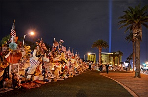 Photo of memorial Remembering #VegasStrong Welcome to Fabulous Las Vegas Sign Memorial by Camilla Ljung