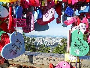 Photo of hearts and city view by Ryan Giannini, Hearts and Seoul (Seoul, South Korea)