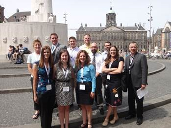 Criminal Justice faculty, students and advisory committee members at conference