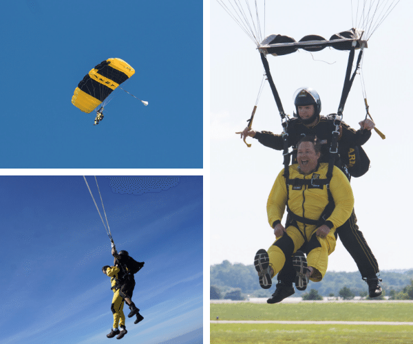 Dean David Powers skydiving
