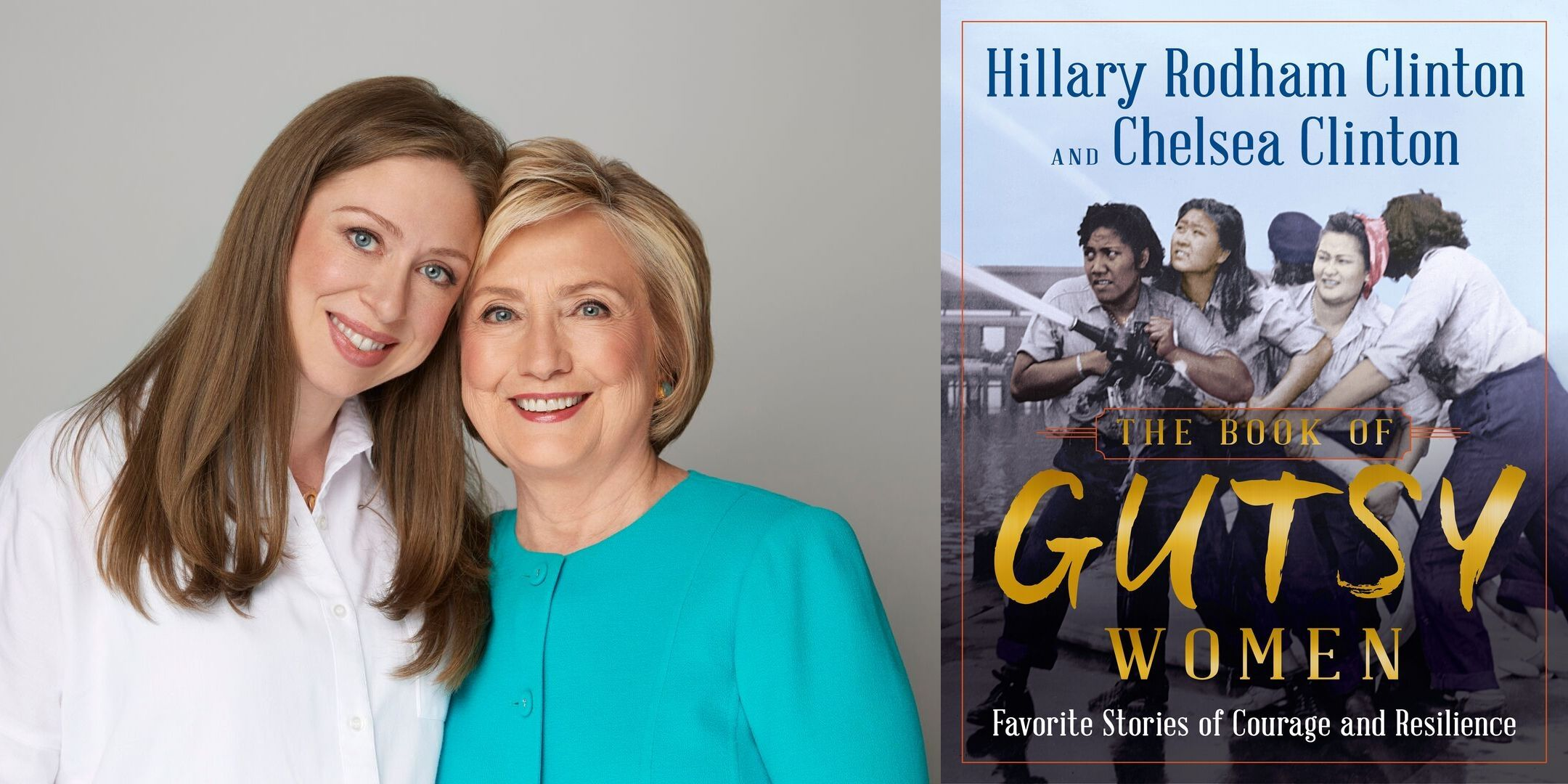 Hillary Rodham Clinton and Chelsea Clinton and the cover of their book