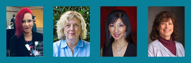 Award winners Kat Cole, Dr. Mary Kay Brennan, Dr. Hye-Kyung Kang and Riva Zeff