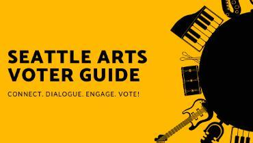 Graphic for Seattle Arts Voter Guide