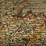 Detail from historic map of England