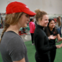 Students demonstrate biomechanical principles at Biomechanics Fair