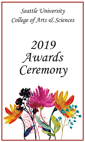 Cover of the 2019 Student Awards Program