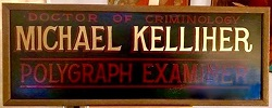 Sign from Father Michael Kelliher's office