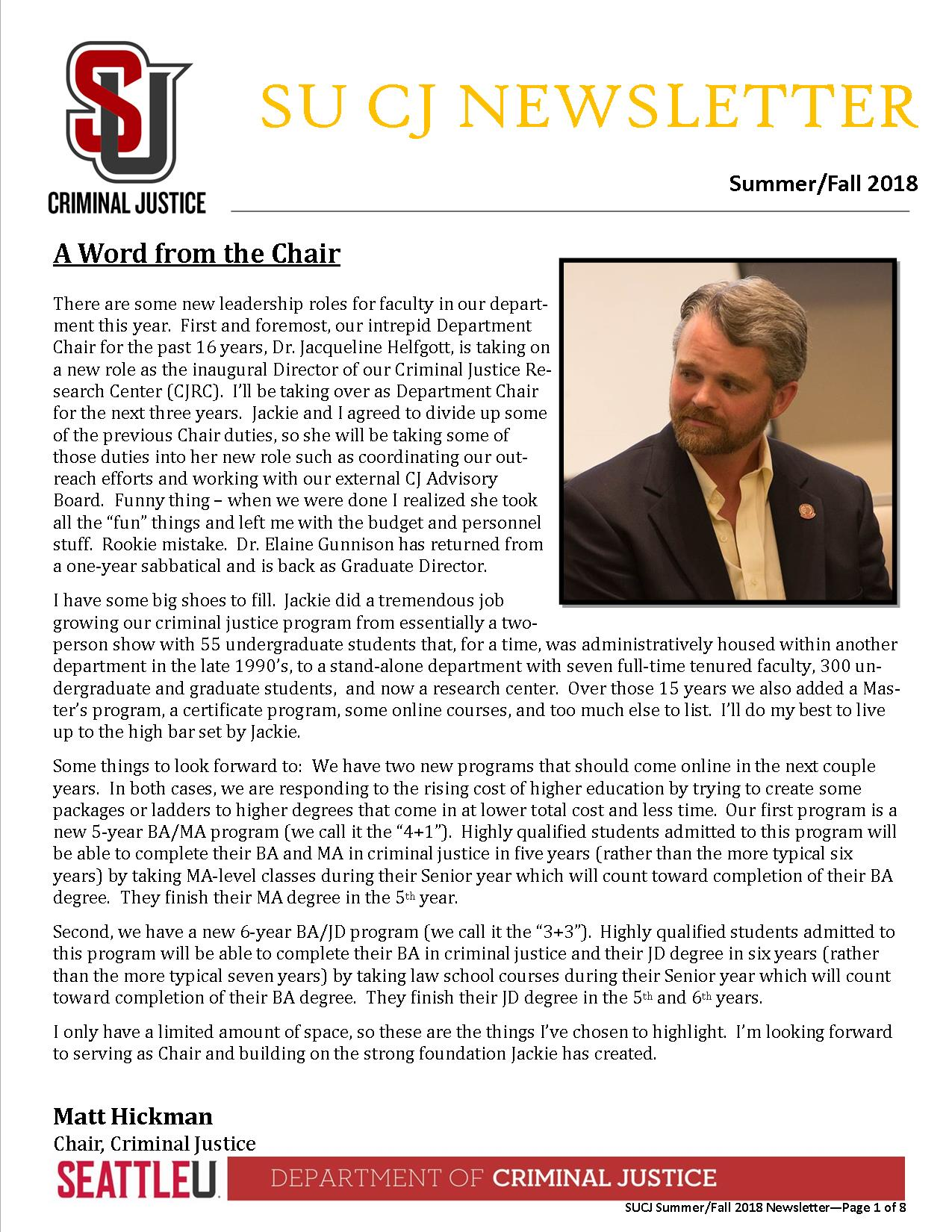 Fall 18 Newsletter Page 1