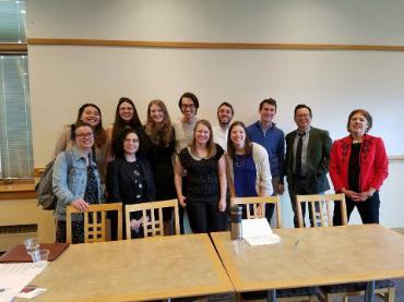 All 12 English Department Honors students presented their Honors projects at the Seattle University Undergraduate Research Association conference (SUURA).