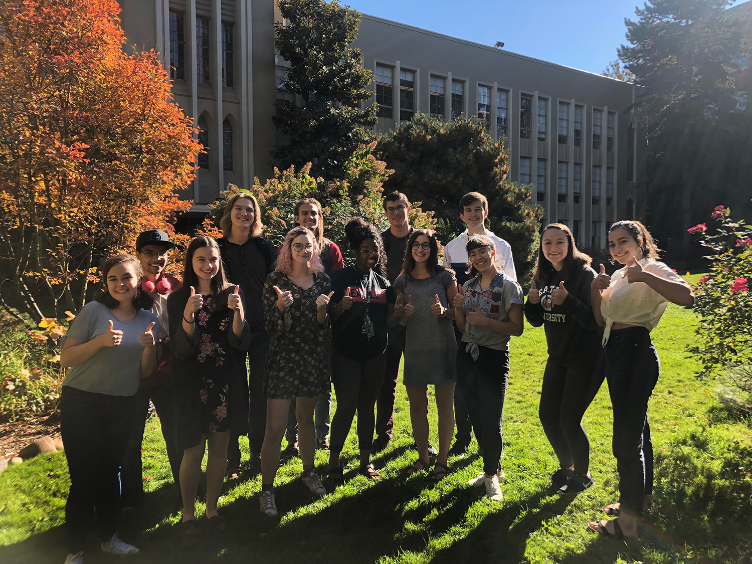 First Year Honors Innovations Students Class Photo Fall of 2018