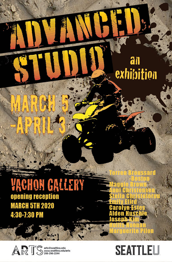 Image of the 2020 Advanced Studio exhibition promotional poster