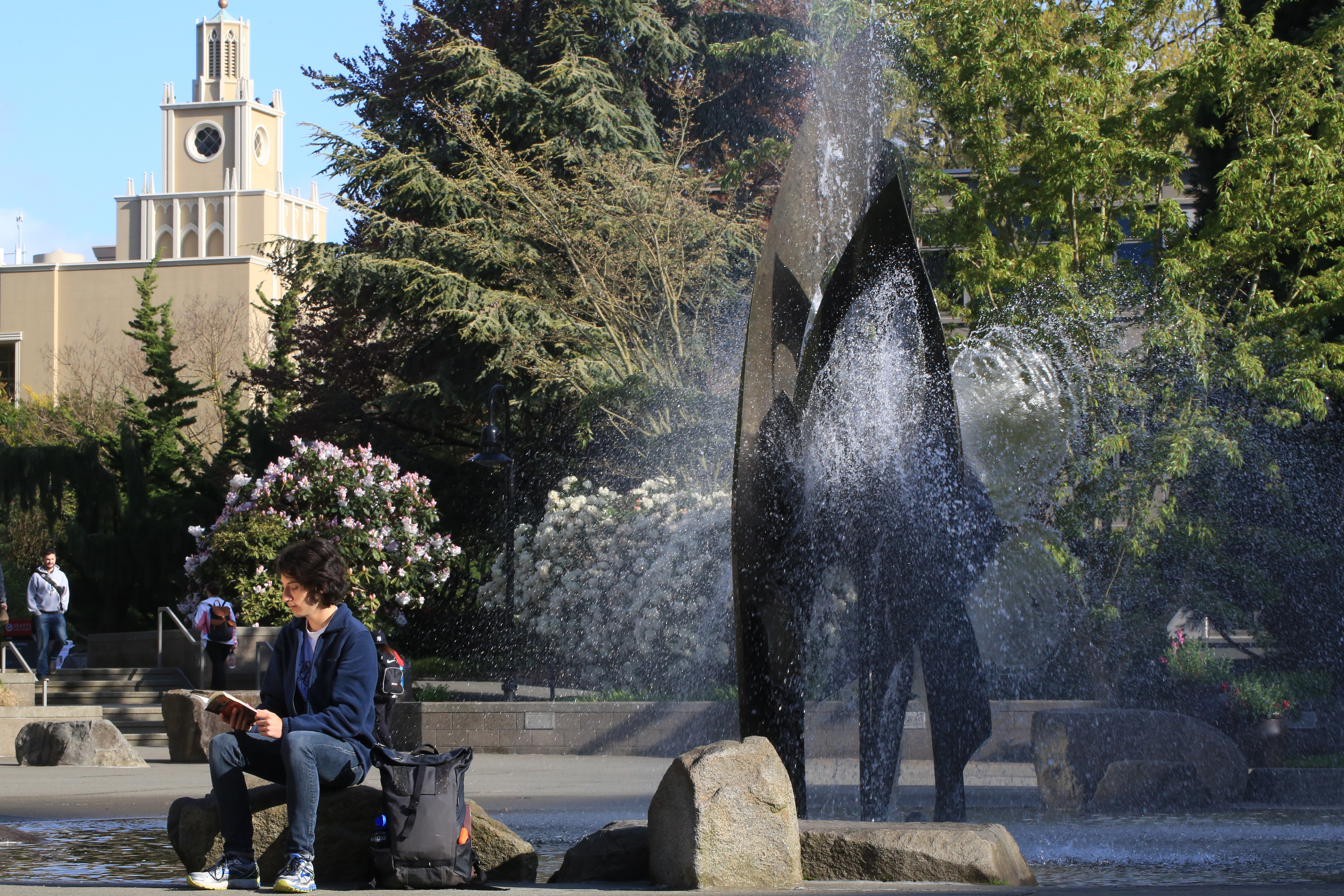 SU Campus fountain