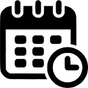 icon of a calendar and clock