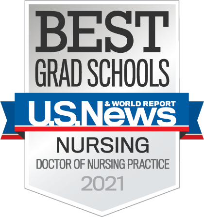 Logo for US News and World Report Best 2021 Grad Schools for Doctor of Nursing Practice
