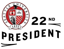 Seattle U Seal with text 22nd President
