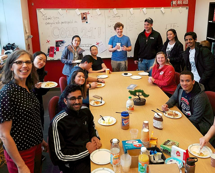 ECE Pancakes and Hackathon Games group photo (1.29.18)