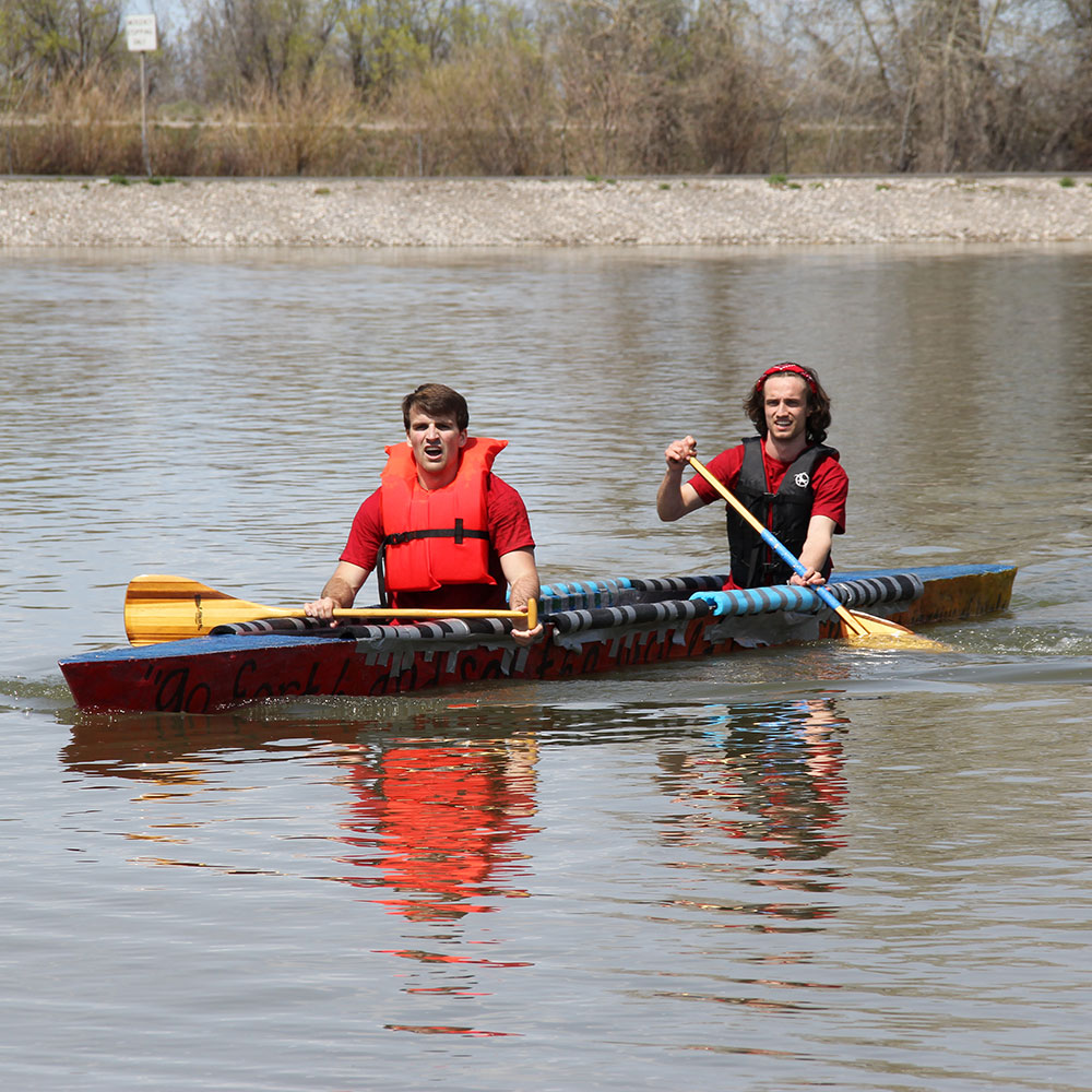 Engineering Students Paddle a Concrete Canoe
