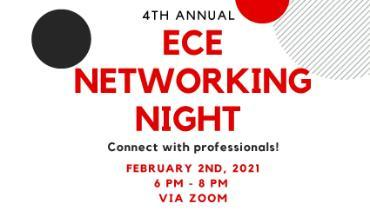 ECE Networking Night 2021 Flyer, title only