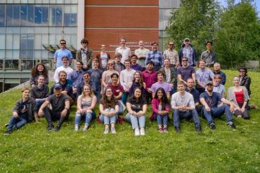 A group picture from the opening BBQ for Summer Research 2019
