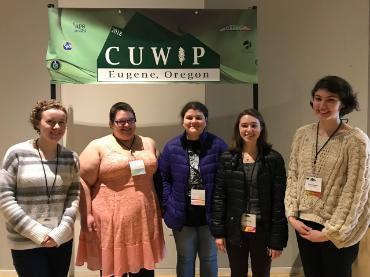 Physics students at the CUWiP Conference (2018)
